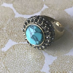 Retro Pave Cocktail Ring